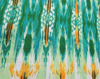 """Indian Green Pure Cotton Fabric Abstract Print 42"""" Wide Sewing Apparel Dress Making Craft Material Sewing Abstract Fabric By 1 Yard ZBC4106"""