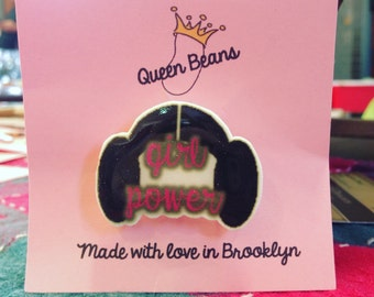 Girl Power Princess Leia Pin