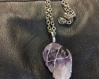 Amethyst wired necklace