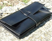 Leather Long Wallet, Leather Wallet, Mens Wallet, Handmade Wallet, Biker Wallet, Leather Card Holder, Slim Wallet, Travel Black Wallet