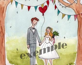 Wedding custom invitation