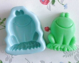 Frog soap making Cake Mold Flexible Silicone Mold Candy mold polymer clay Resin Crafts baking tools bath bomb Handmade Soap mold