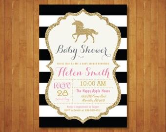 unicorn baby shower invitation | etsy, Baby shower invitations
