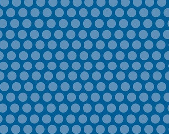 Rover Dot Blue by Riley Blake Designs - Dog Polka Dot - Quilting Cotton Fabric - by the yard fat quarter half