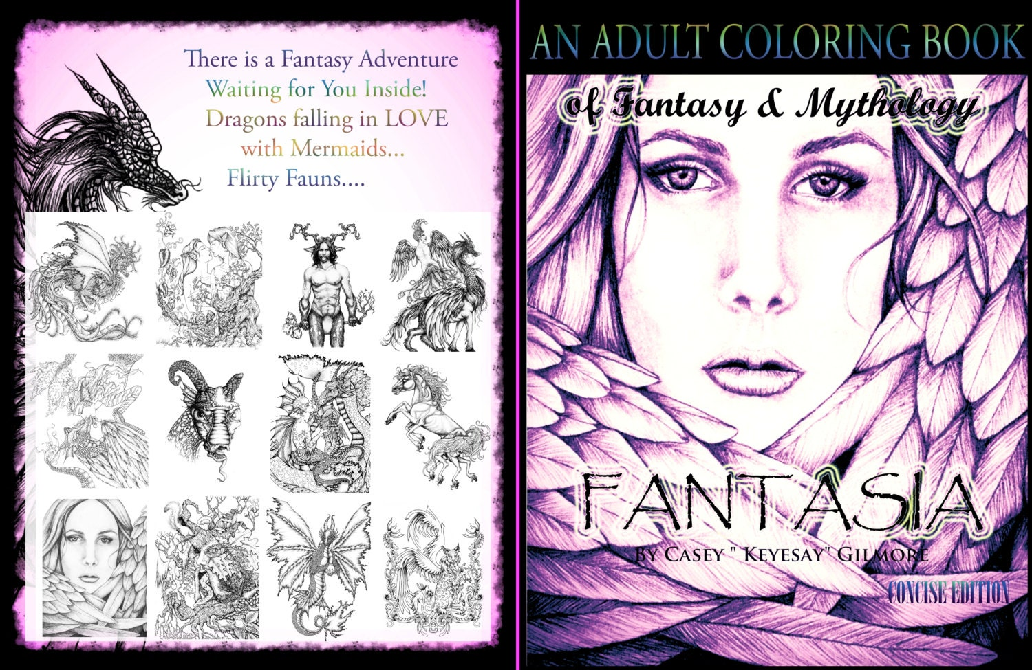 Adult Coloring BookFantasia Fantasy And By KeyesaysVisualArt