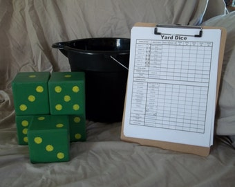 Yard Dice Yardzee  (Yahtzee) with bucket custom colors