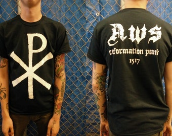 Anti-World System Chi-Rho Reformation Punk t-shirt