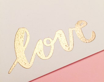 Envelopes | Love Envelopes | Set of 10 | Gold Embossed Envelopes