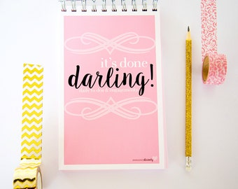 Daily Planner | It's Done Darling | To-Do Lists | 8x5 Spiral Bound