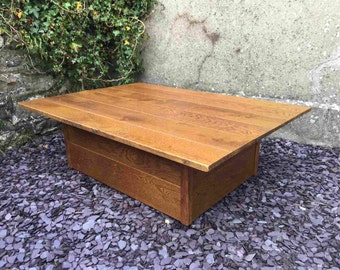 Classic Solid Oak Plank Coffee Table