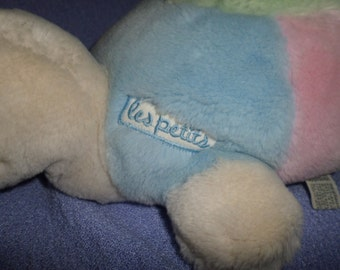Vintage Applause Turtle plush Les petits Pastel pink blue green 1988 cream