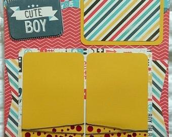 12x12 Premade Boy Scrapbook Page