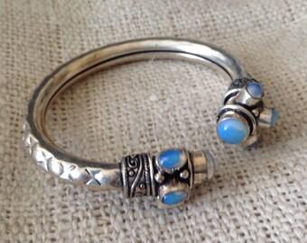 Elegant Aqua Blue  Turquoise   Cuff Bracelet