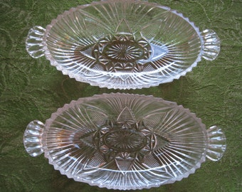 2 Vintage Pickle/Relish Dishes - Item #1018