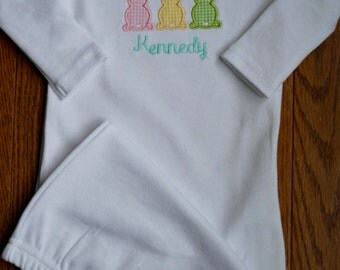 Bunny Layette Gown, Easter Gown, Coming Home Gown