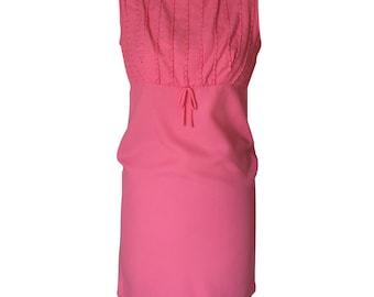 Vintage 1970's A line pink dress