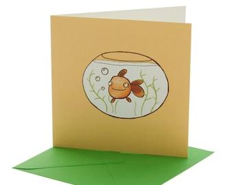 Goldfish Blank Card