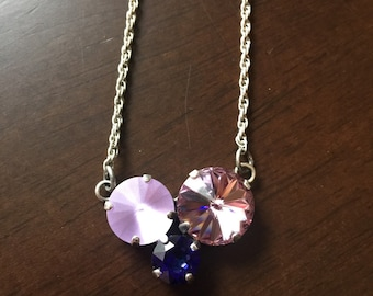 Triple stone purples necklace!