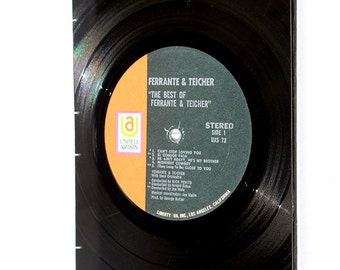 Orange and Black Vinyl Journal