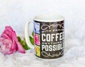 Personalized Coffee Mug,Inspirational Flower Mug,Tea,Ceramic,Coffee Mug,Hot Cocoa Mug,Gift Mug,Inspirational Gift,Holiday Gift,Floral,Coffee