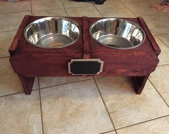 Raised Dog Feeder | Custom Dog Bowl | Handmade Dog Feeder |  FREE SHIPPING