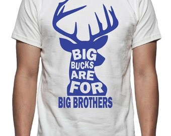 Big Bucks are for Big Brothers Tee Shirt Design, SVG, DXF, EPS Vector files for use with Cricut or Silhouette vinyl cutting machines.