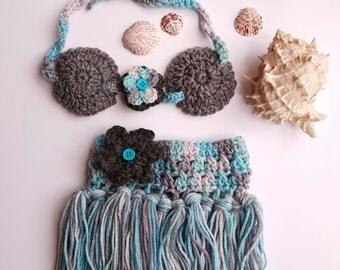 Hula girl outfit - Girls Hula Skirt - Hula skirt - Baby Hula Skirt - Newborn Crochet Outfit - Baby's First Pictures - Hawaiian Hula Girl