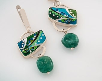 Cloisonne Enamel- Earrings