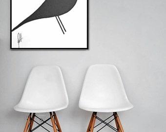 Decorative painting Eames Bird