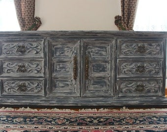 Antique dresser/ buffet table