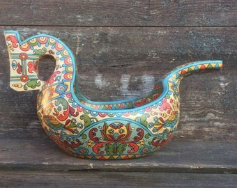 """Russian folk art.Hand made wooden scoop""""Horse"""". Home decor.Wood Bowl.Ladle."""