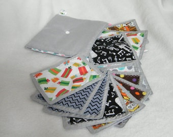 Fabric memory game, 12 cards