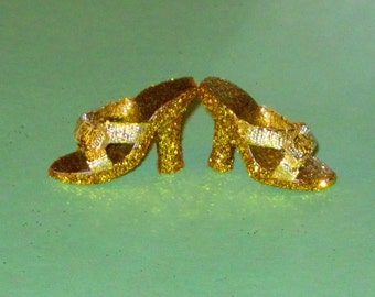 Cissette GOLD BOWS Shoes for Cissette 10 inch Madame Alexander, Tonner Tiny Kitty, Miss Revlon 10 inch