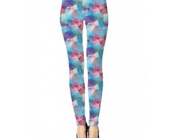 Colourful Polygon Leggings