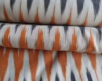 Tricolor Ikat Fabric