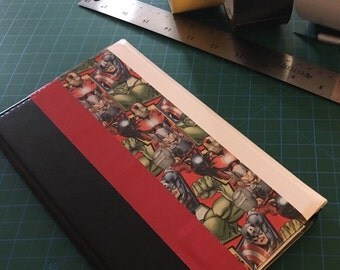 Server book with marvel duck tape