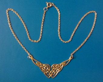 """Sterling Silver Celtic Design Pendant Necklace 16"""" - 6.63g"""