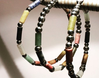 Stainless steel and gemstone jewelry