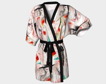 Lady in red Kimono Robe