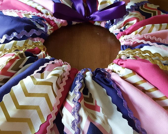 Funky Purple Pink and Gold Tutu Mardi Gras themed pink gold smash photos Birthday skirt Purple Gold Chevron Gold Fabric 1st birthday girls