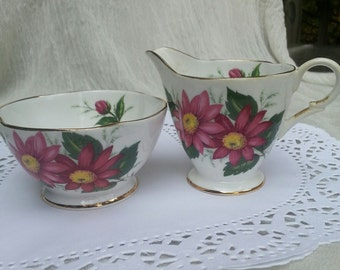 Windsor china, bone china,  creamer and sugar. china