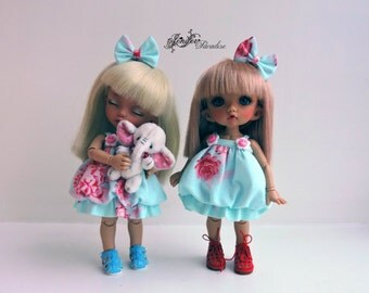 Dress for a doll BJD Lati Yellow/Pukifee/IrrealDoll/Luts/Nikki Britt