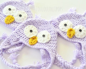 Crochet Owl Hat - owl hat, baby owl hat, kids owl hat, owl ear flap hat, owl gifts, owl hats for kids, owl face hat, owl beanie for kids
