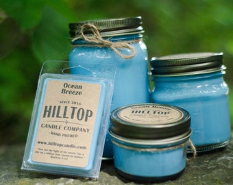 Ocean Breeze Hand Poured Soy Candle