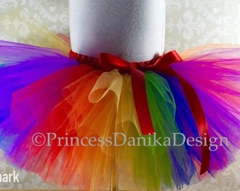 Striped Rainbow Tutu, Circus Tutu, Clown Tutu, Mulitcolor Tutu, Pride Tutu, Infant/Toddler Tutu, Adult Tutu, Running Tutu