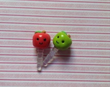 Polymer Clay Phone Apple Dust Plug