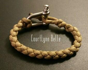 Men's Bracelet, Men's Bangle, Survival Bracelet, Men's Paracord Bracelet, Cool and Simple Bracelet (Women's Bracelet)