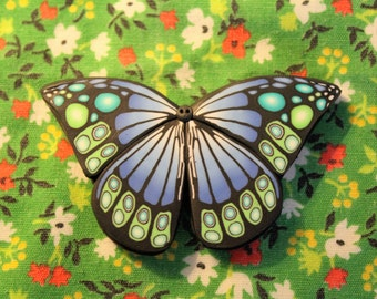 Handmade polymer/ fimo clay butterfly with neodymium magnet