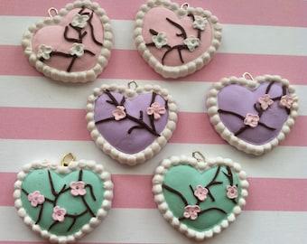 cherry blossom/sakura heart necklace