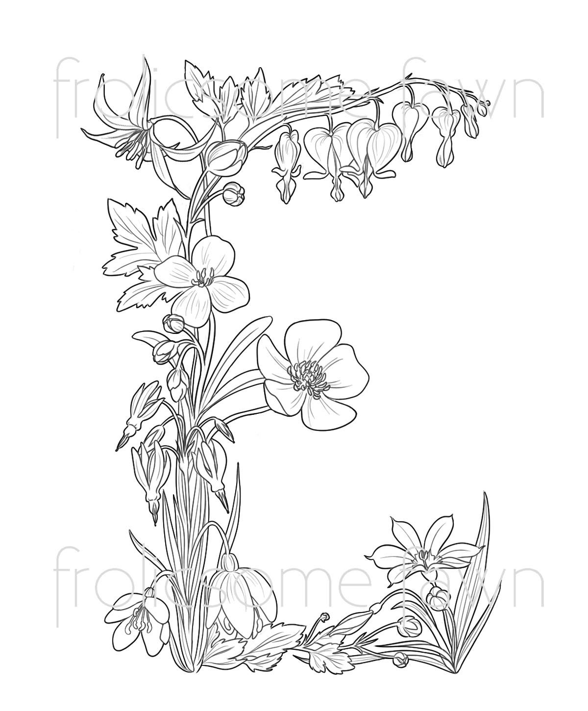 coloring pages for kids wild flowers | Wild Flower Pages For Adults Coloring Pages